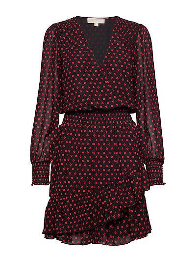 Mod Dot Rfl Dress Kleid Knielang Rot MICHAEL KORS