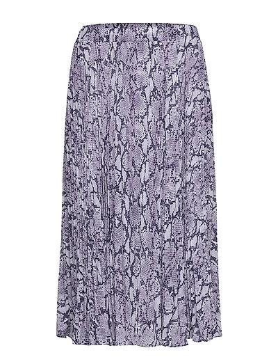 Sat Snake Plted Skirt Knielanges Kleid Lila MICHAEL KORS | MICHAEL KORS SALE