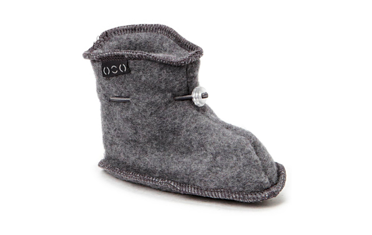 Mikk-Line Wool baby shoe - 916/175-189 M MELANGE/GREY
