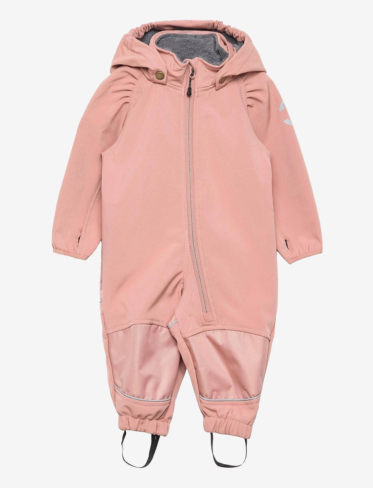 Mikk-Line - Softshell Girls Suit - softshells - burlwood - 0