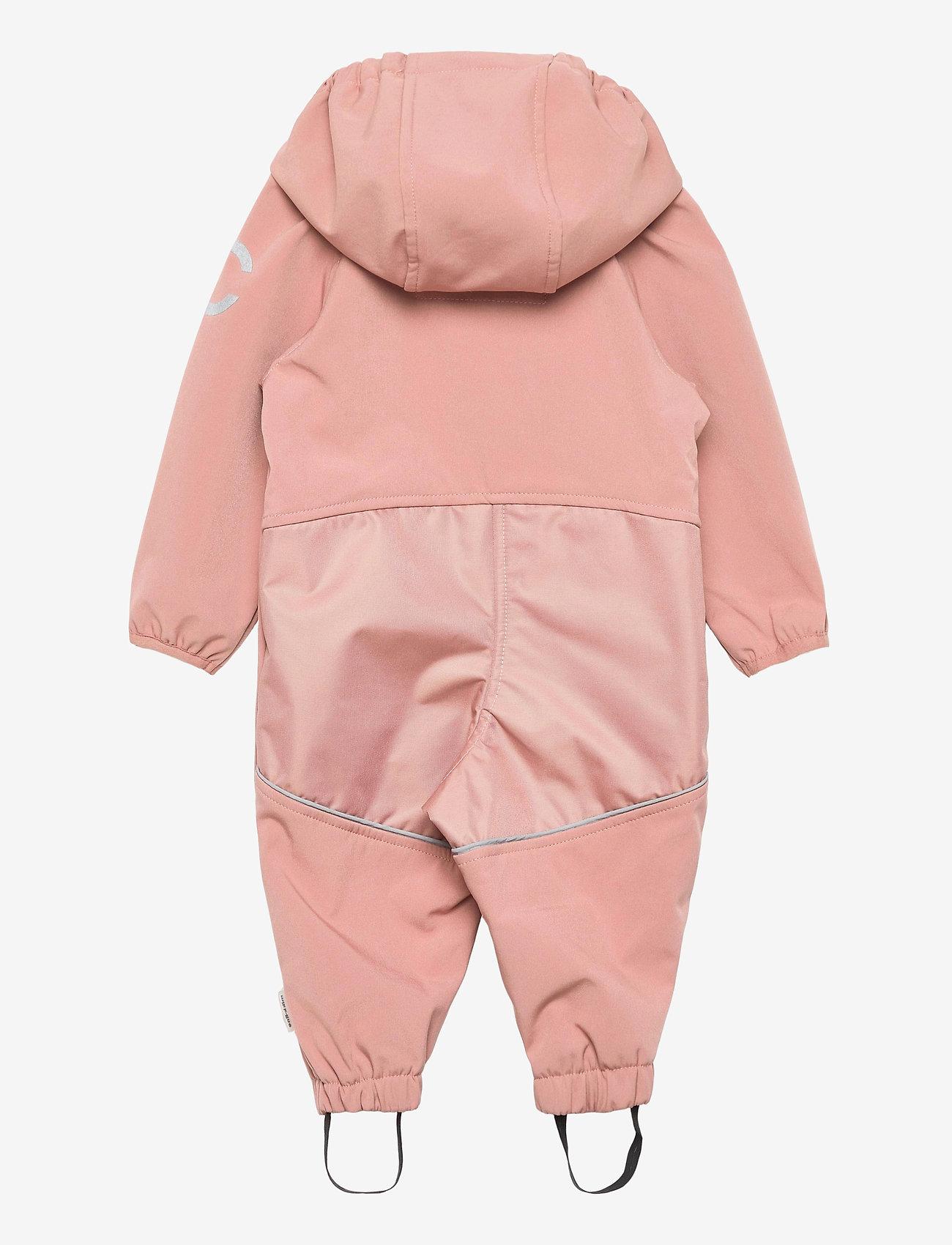 Mikk-Line - Softshell Girls Suit - softshells - burlwood - 1