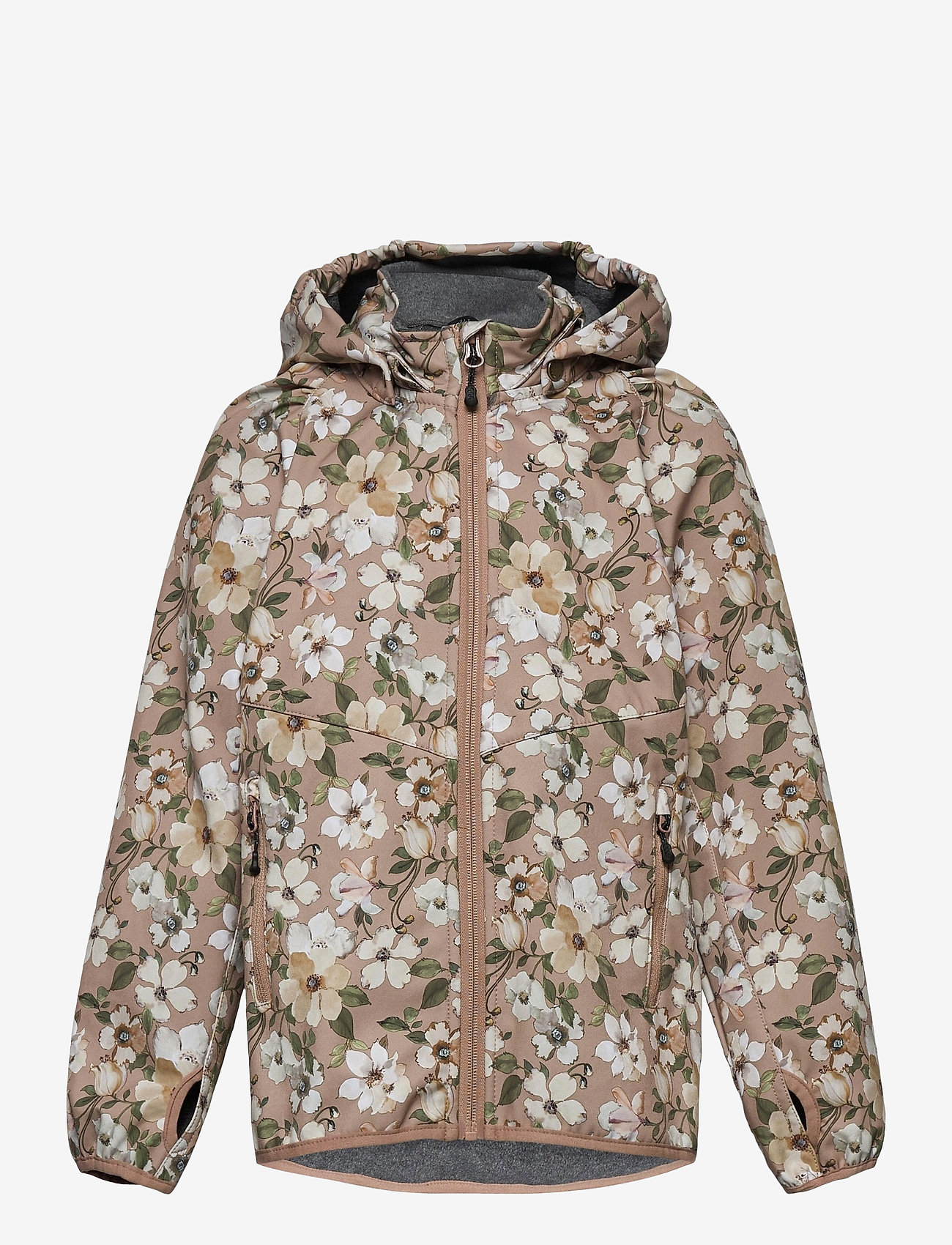 Mikk-Line - Softshell Girls Jacket w. Print - softshell jassen - cafe au lait - 0