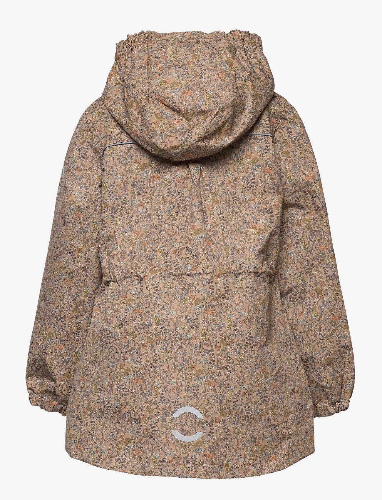 Mikk-Line - Polyester Tussor Girl Jacket AOP - skaljakke - cafe au lait - 1