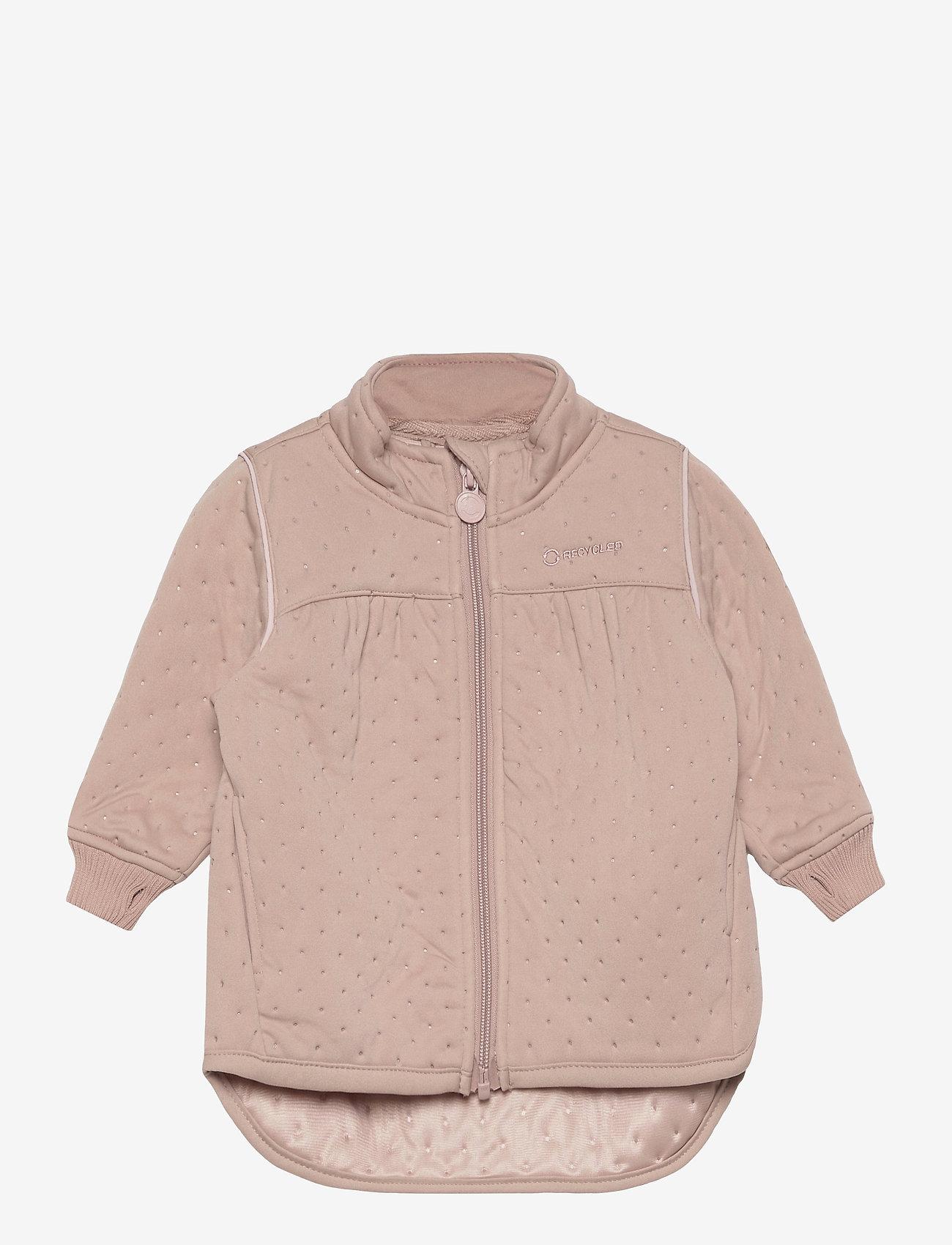 Mikk-Line - Soft Thermo Recycled Girl Jacket - termojakke - adobe rose - 0