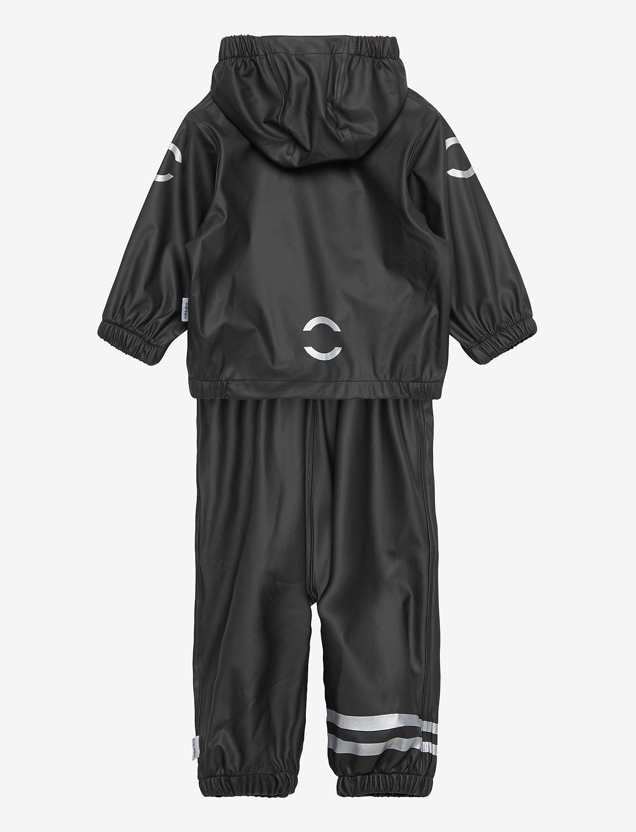 Mikk-Line - PU Rain Set w. Susp/110 - sets & suits - black - 1