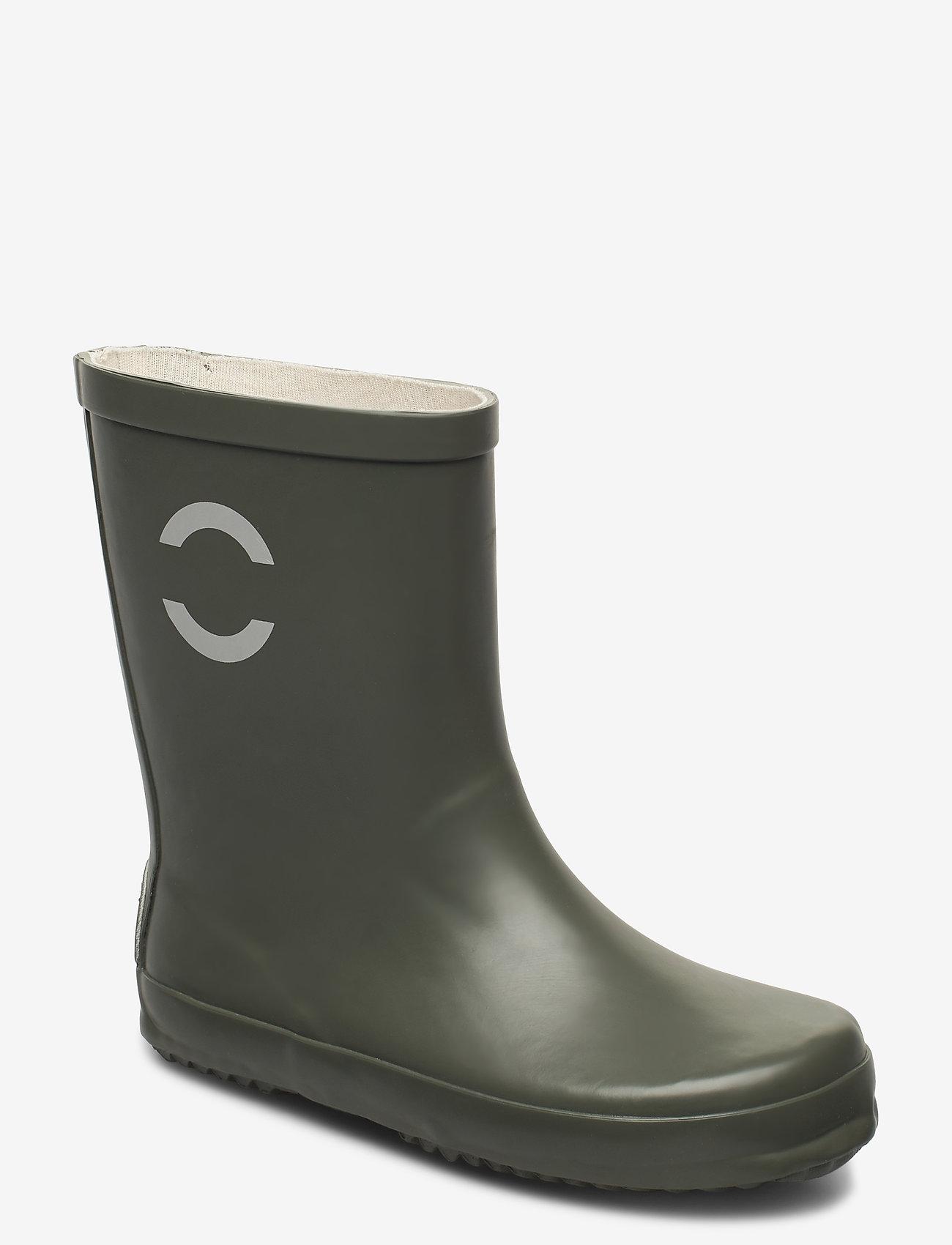 Mikk-Line - Wellies - Solid - uforede gummistøvler - dusty olive - 0