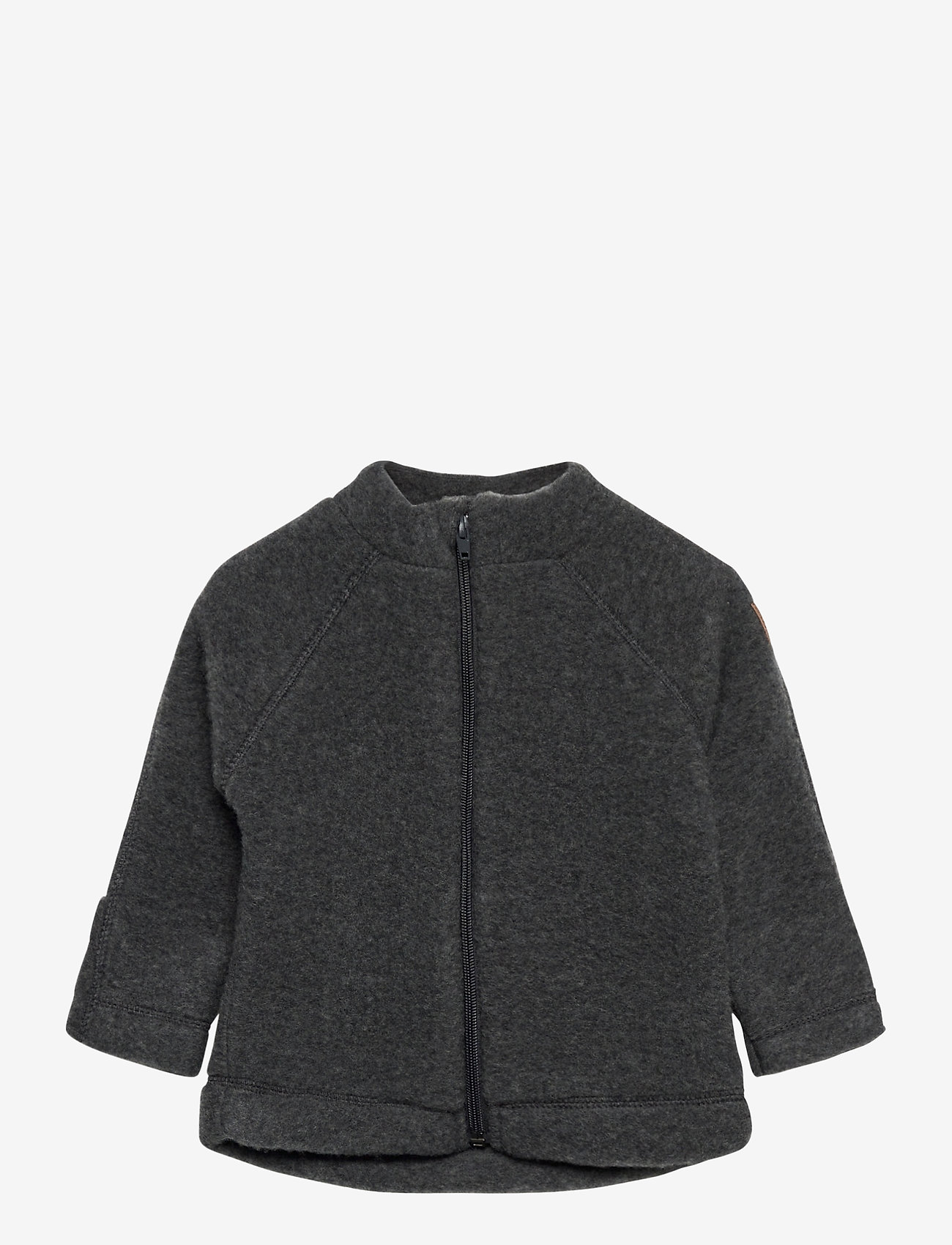 Mikk-Line - WOOL Baby jacket - uldtøj - anthracite melange - 0