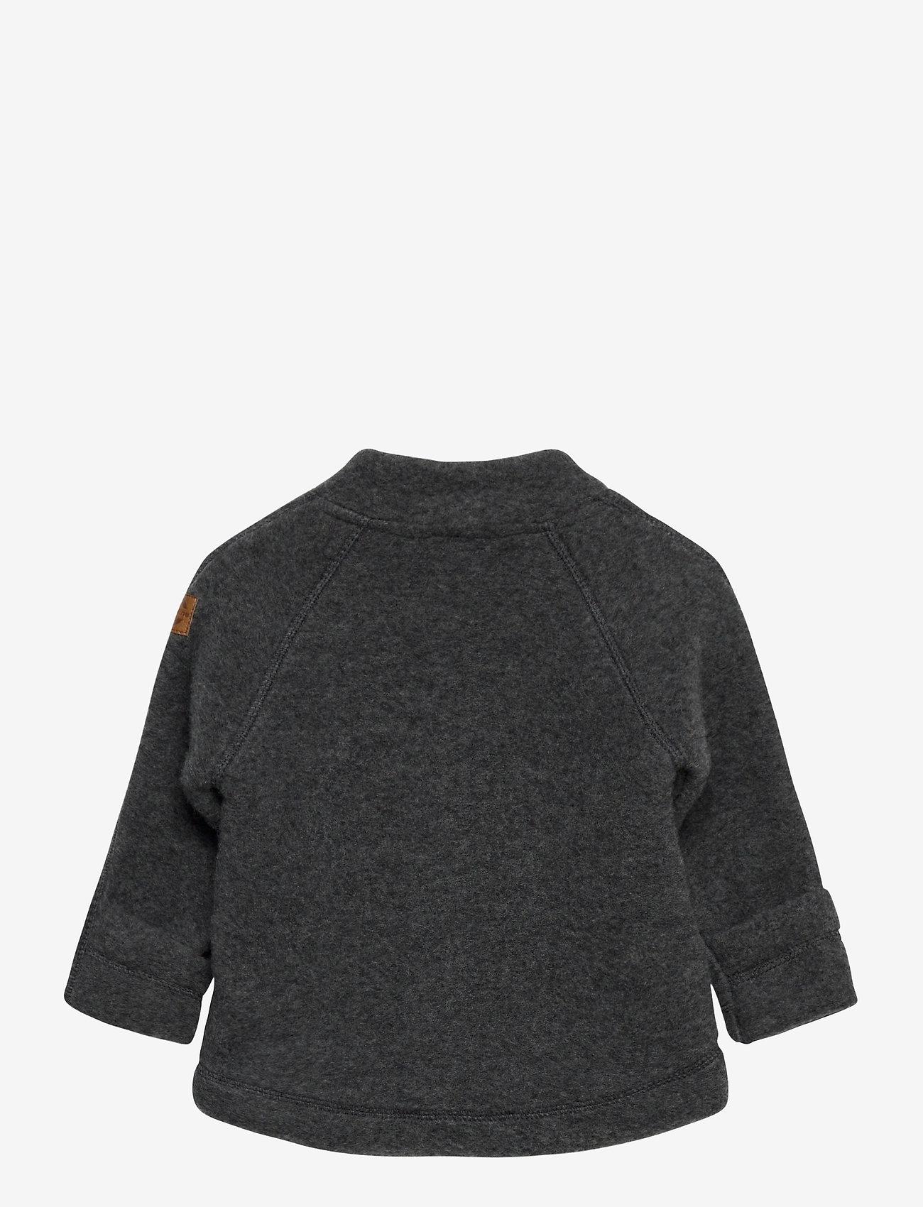 Mikk-Line - WOOL Baby jacket - uldtøj - anthracite melange - 1