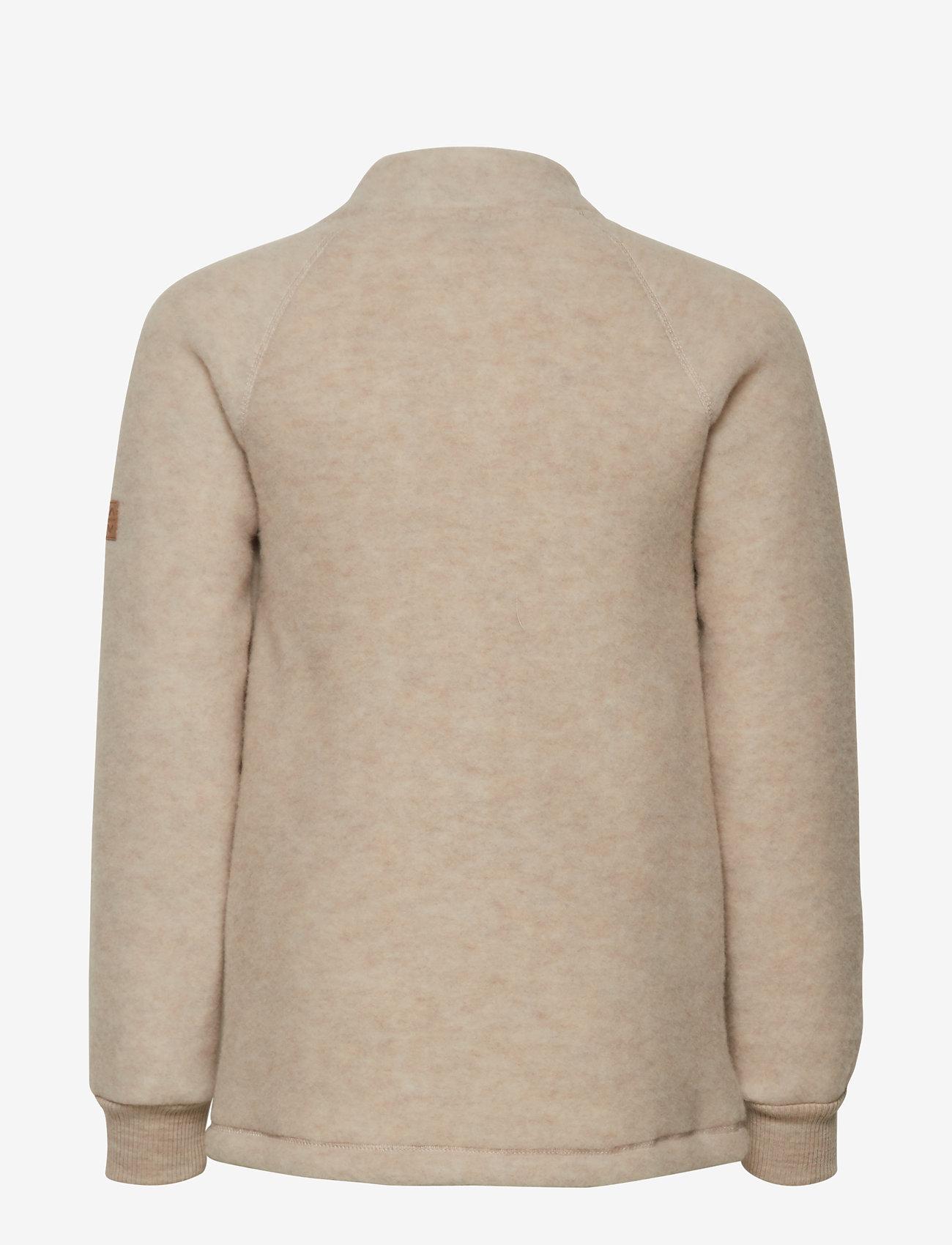 Mikk-Line - WOOL jacket - uldtøj - 429/melangeoffwhite - 1