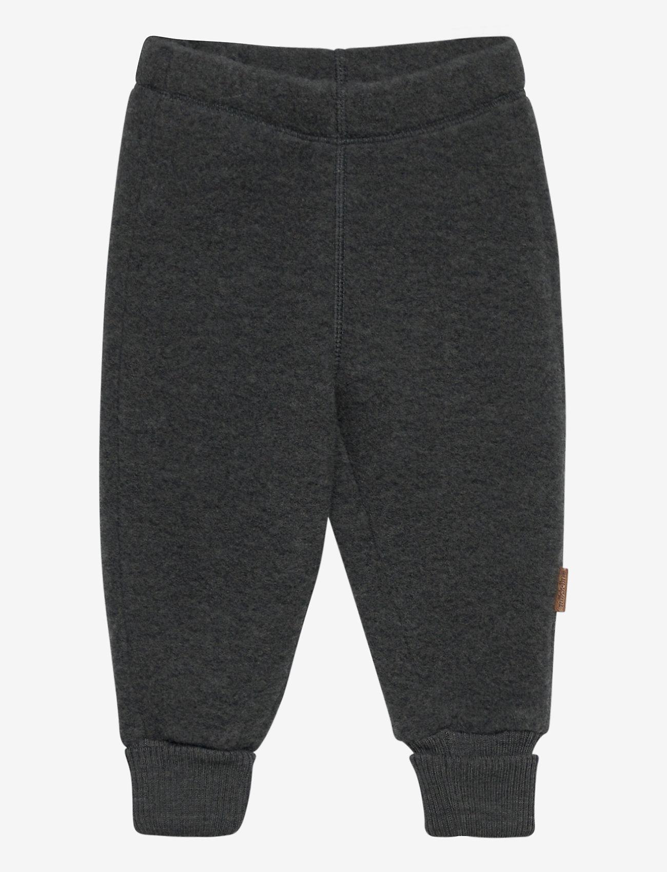 Mikk-Line - WOOL Pants - bukser - anthracite melange - 0