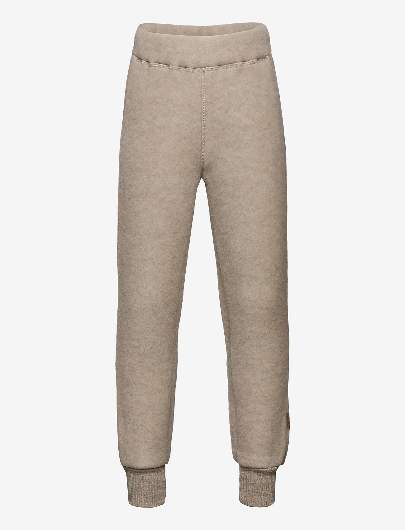 Mikk-Line - WOOL Pants - trousers - melange offwhite - 0