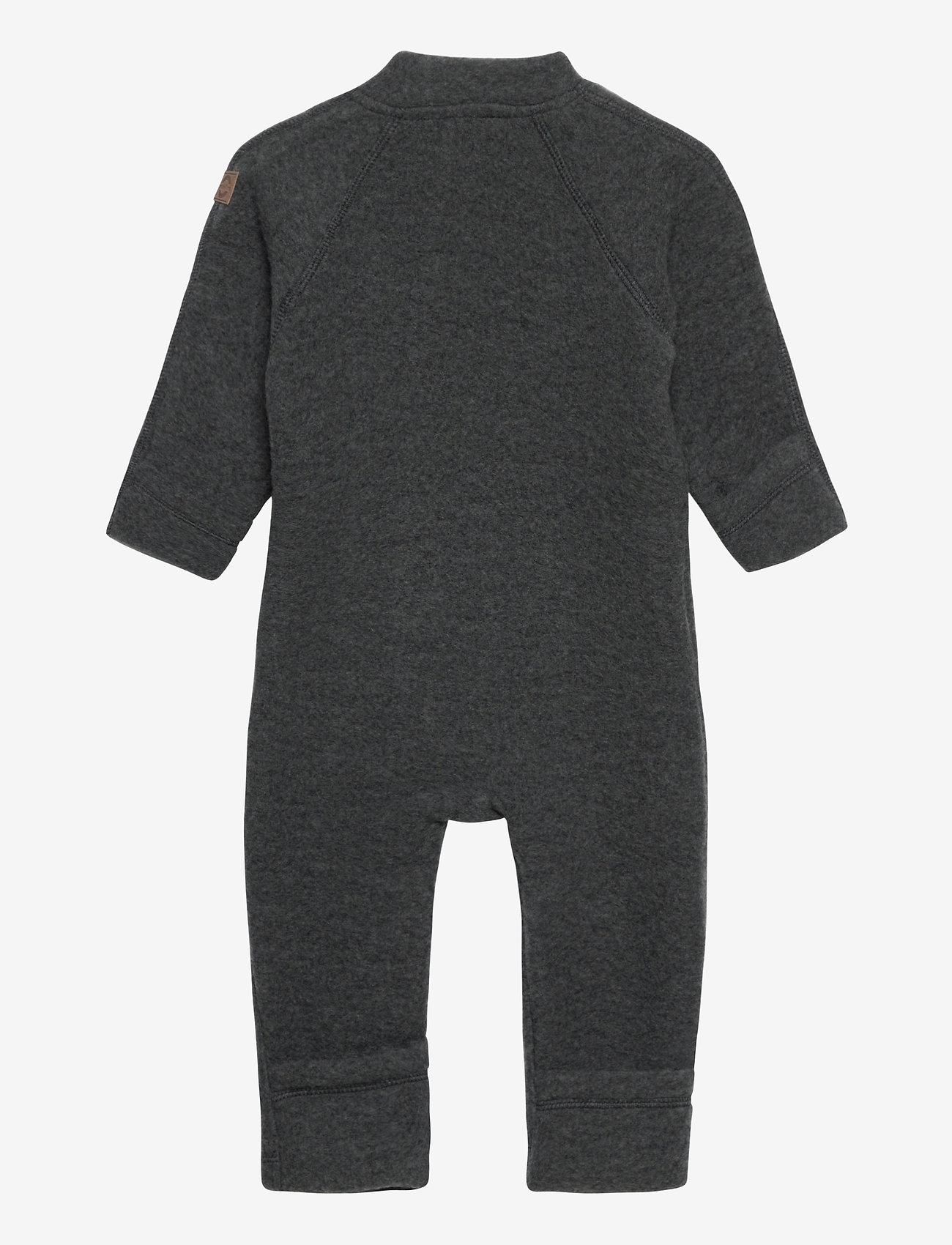 Mikk-Line - Wool Baby Suit - termo sæt - anthracite melange - 1