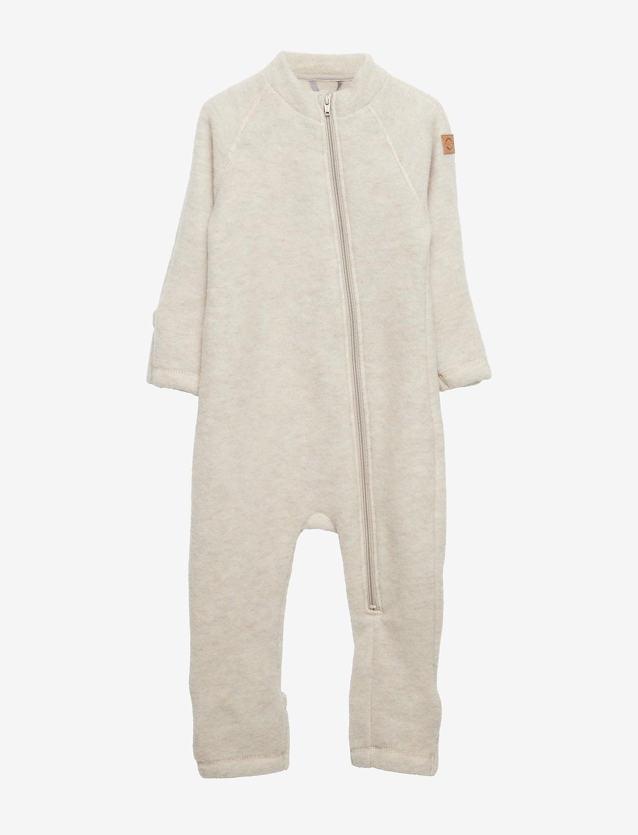 Mikk-Line - Wool Baby Suit - basislag - melange offwhite - 0
