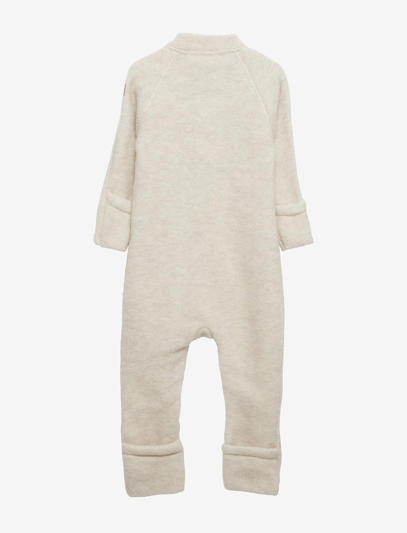 Mikk-Line - Wool Baby Suit - basislag - melange offwhite - 1