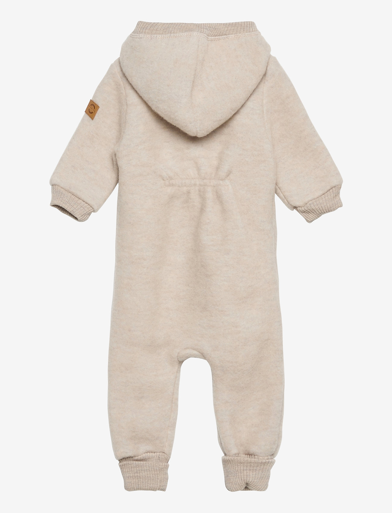 Mikk-Line - Wool Baby Suit w. Hood - basislag - melange offwhite - 1