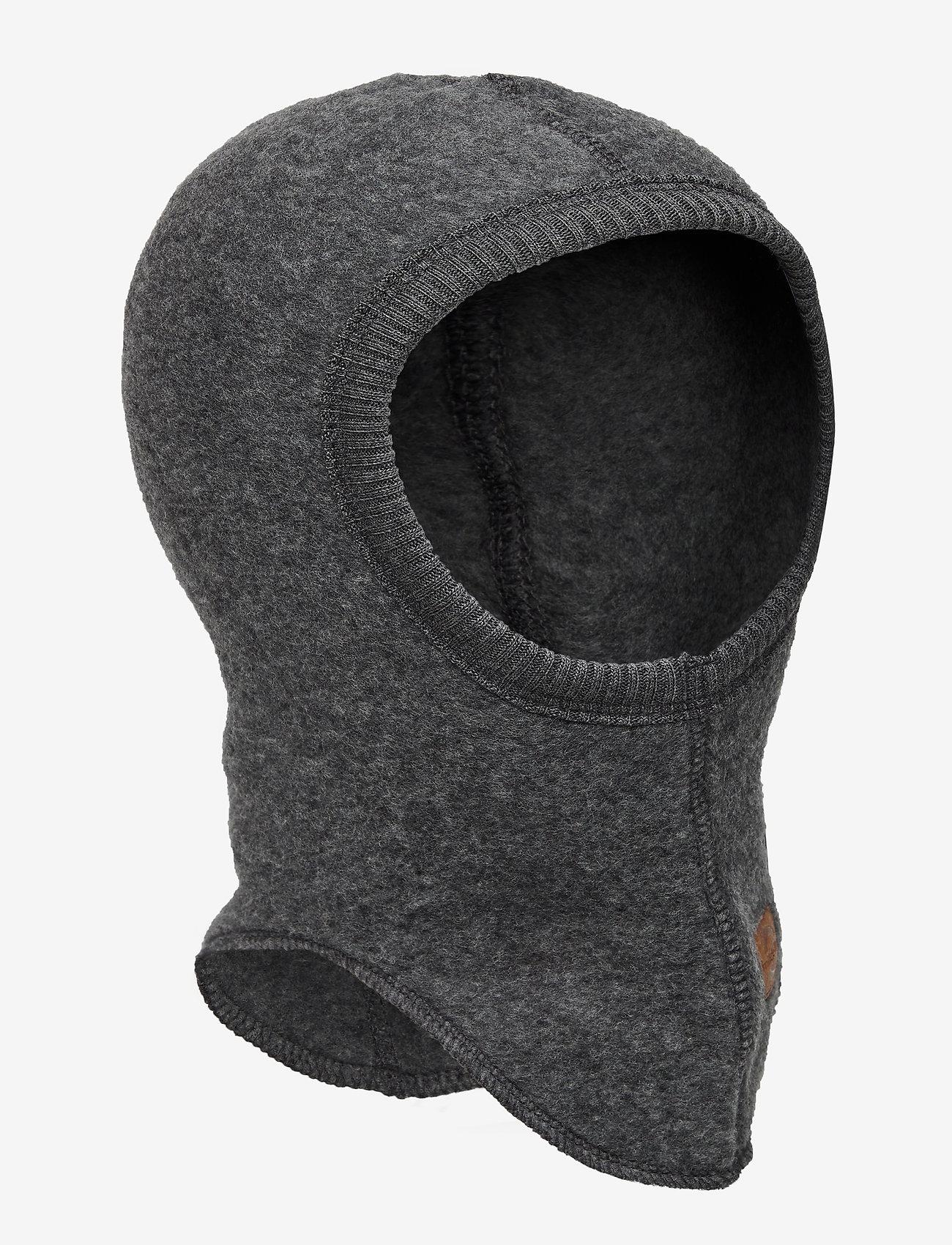 Mikk-Line - Wool Fullface - balaclava - anthracite melange - 0