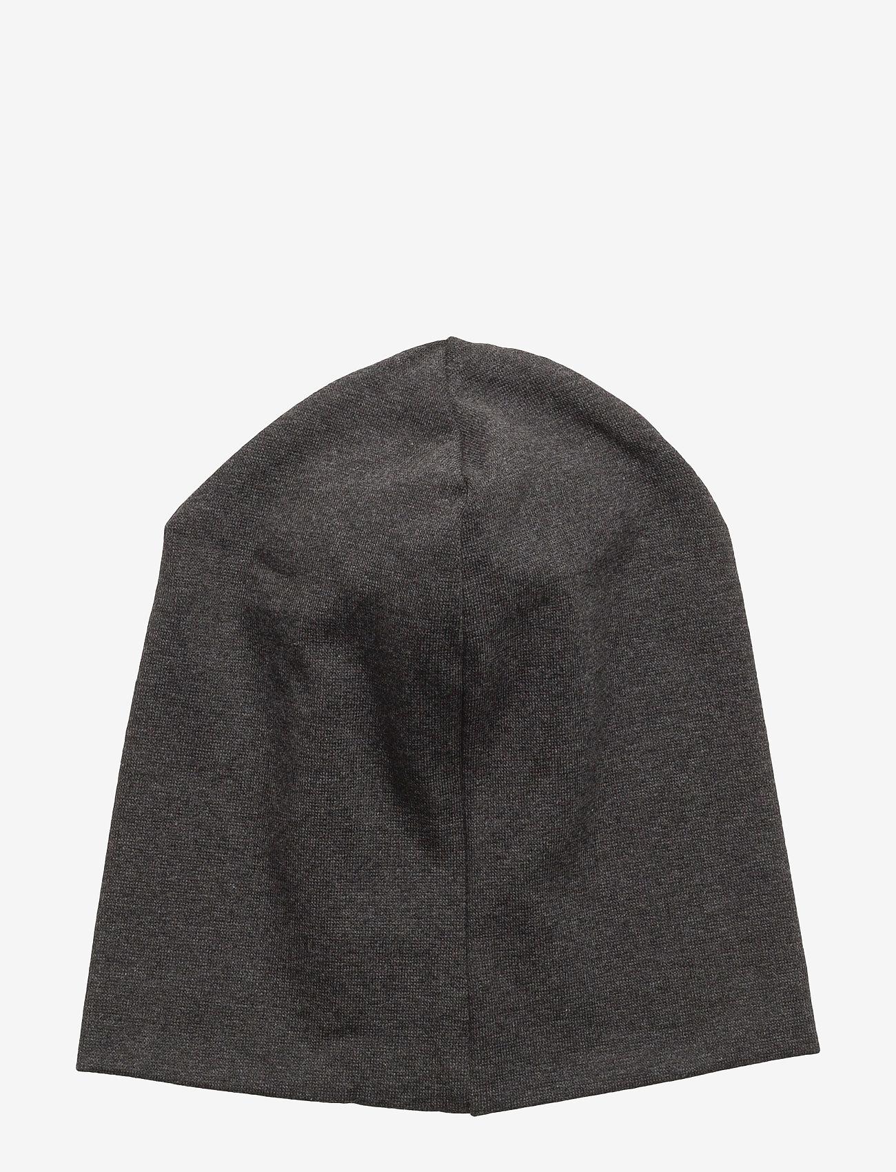 Mikk-Line - Cotton Hat - Solid - huer - 180/dark grey melange - 1