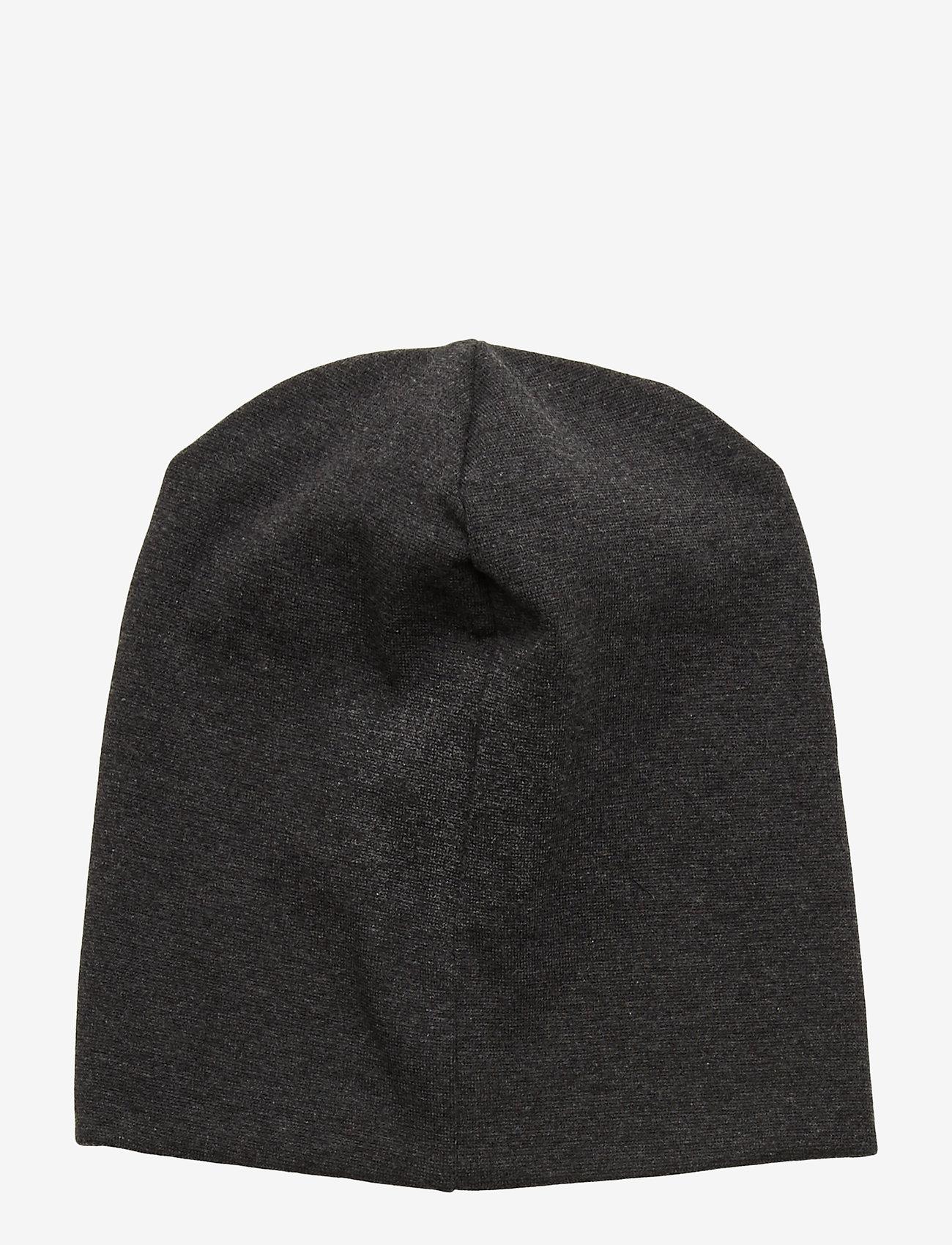 Mikk-Line - Cotton Hat - Solid - huer - dark grey melange - 1