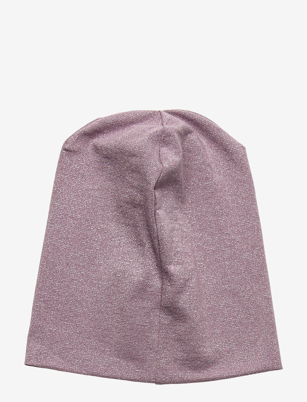 Mikk-Line - Cotton Lurex Hat - huer - elderberry - 1