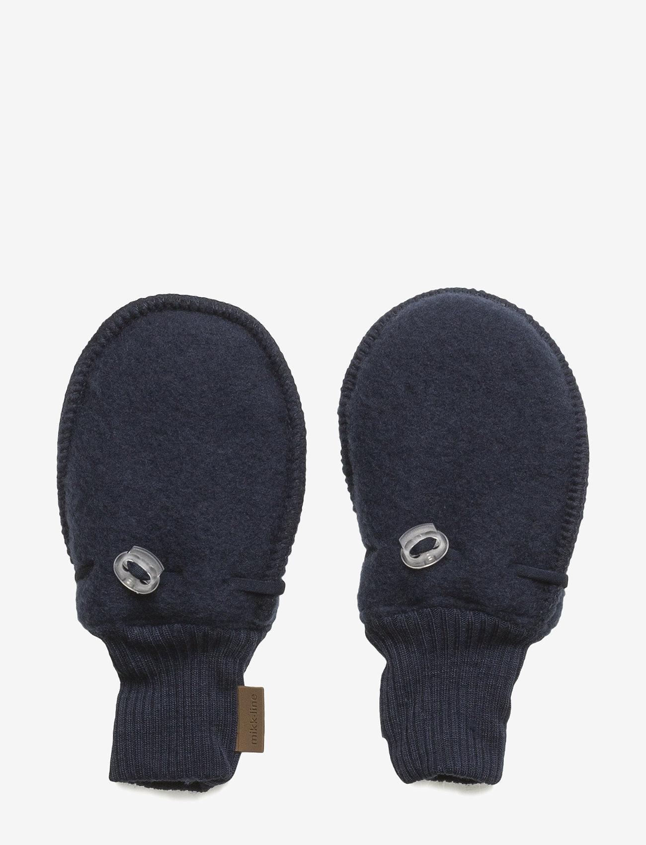 Mikk-Line - Wool Mittens - uldtøj - 287/bluenights - 0