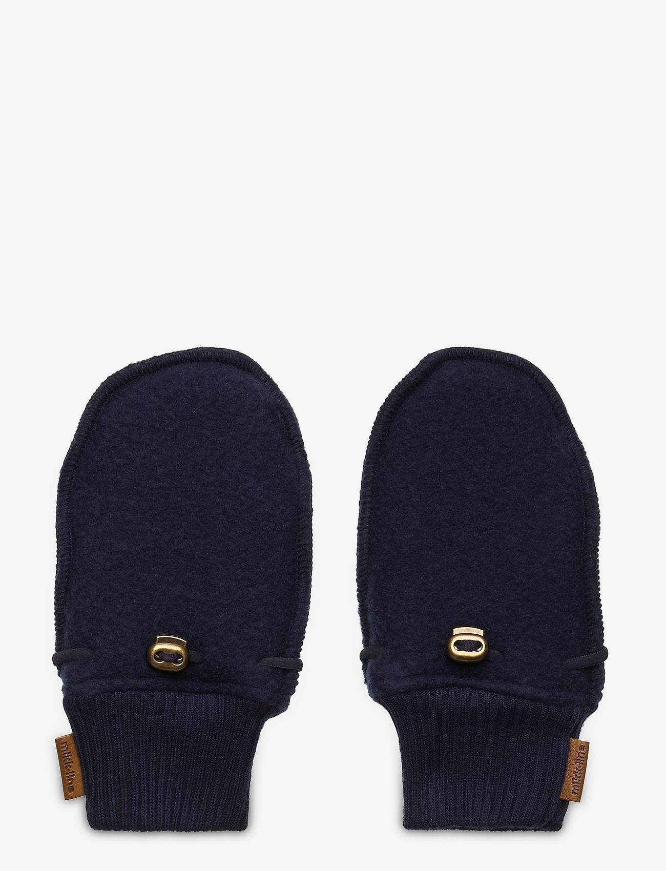 Mikk-Line - Wool Mittens - uldtøj - blue nights - 0