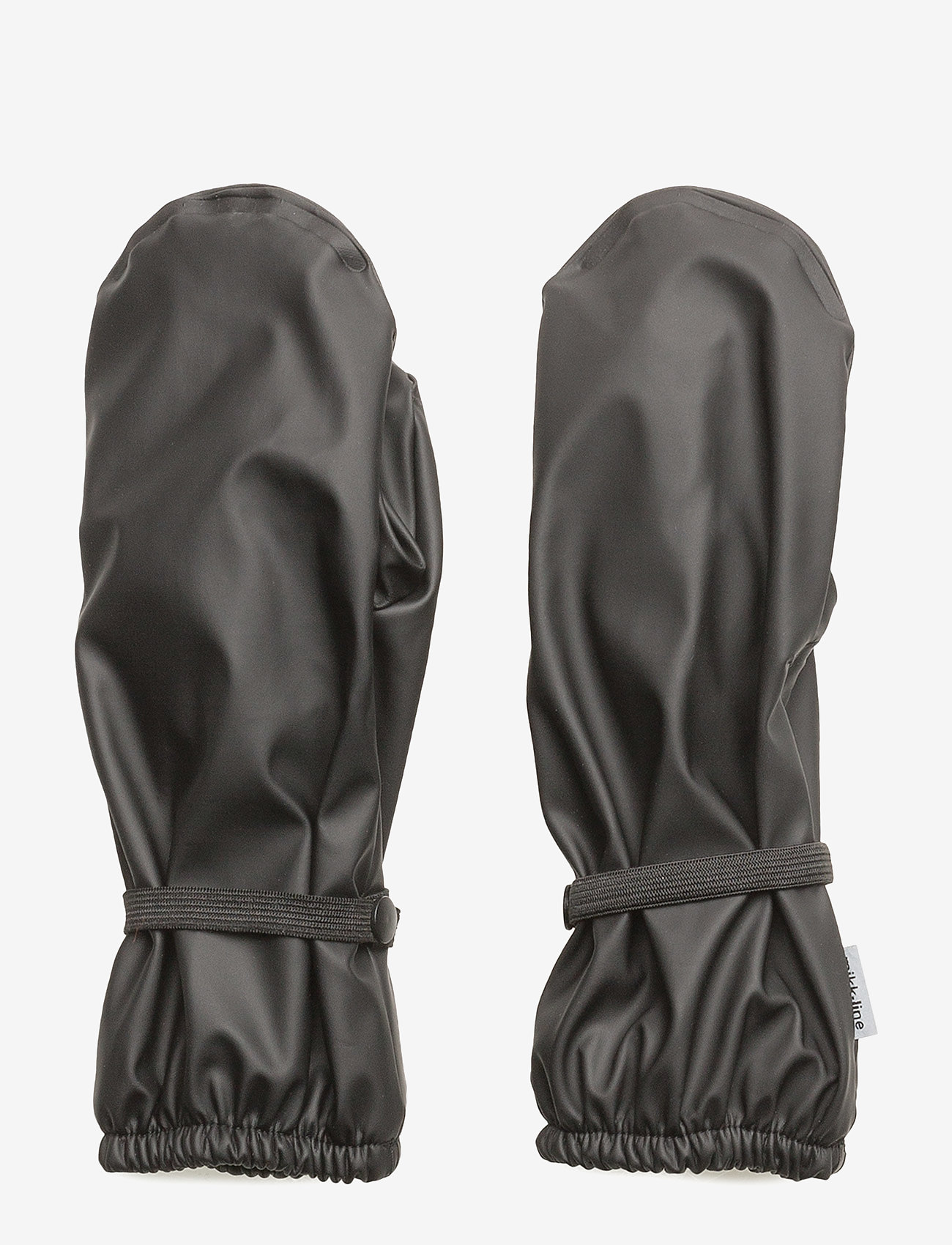 Mikk-Line - PU RAIN mittens with fleece - vintertøj - 190 black - 0