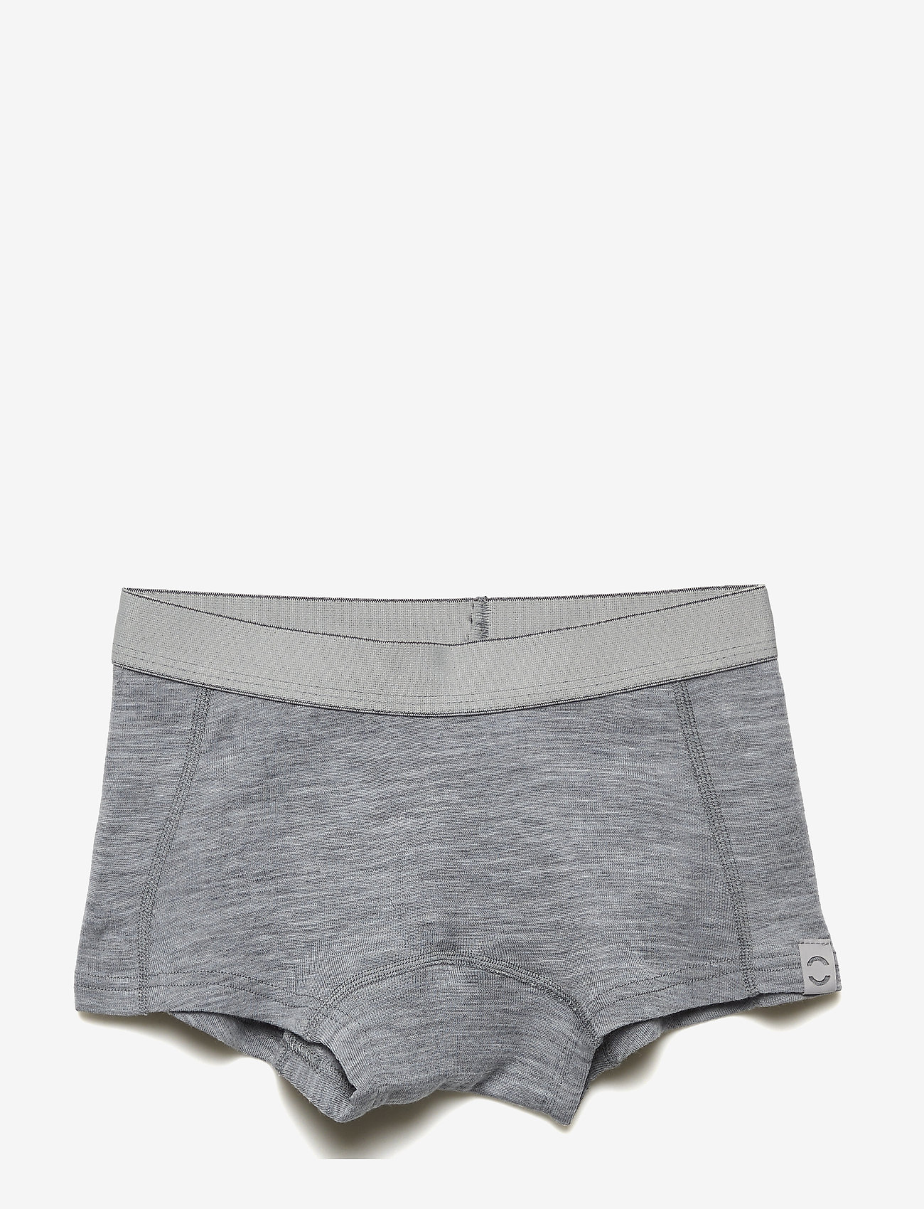 Mikk-Line - Wool Girls Shorts - doły - pearl grey melange - 0