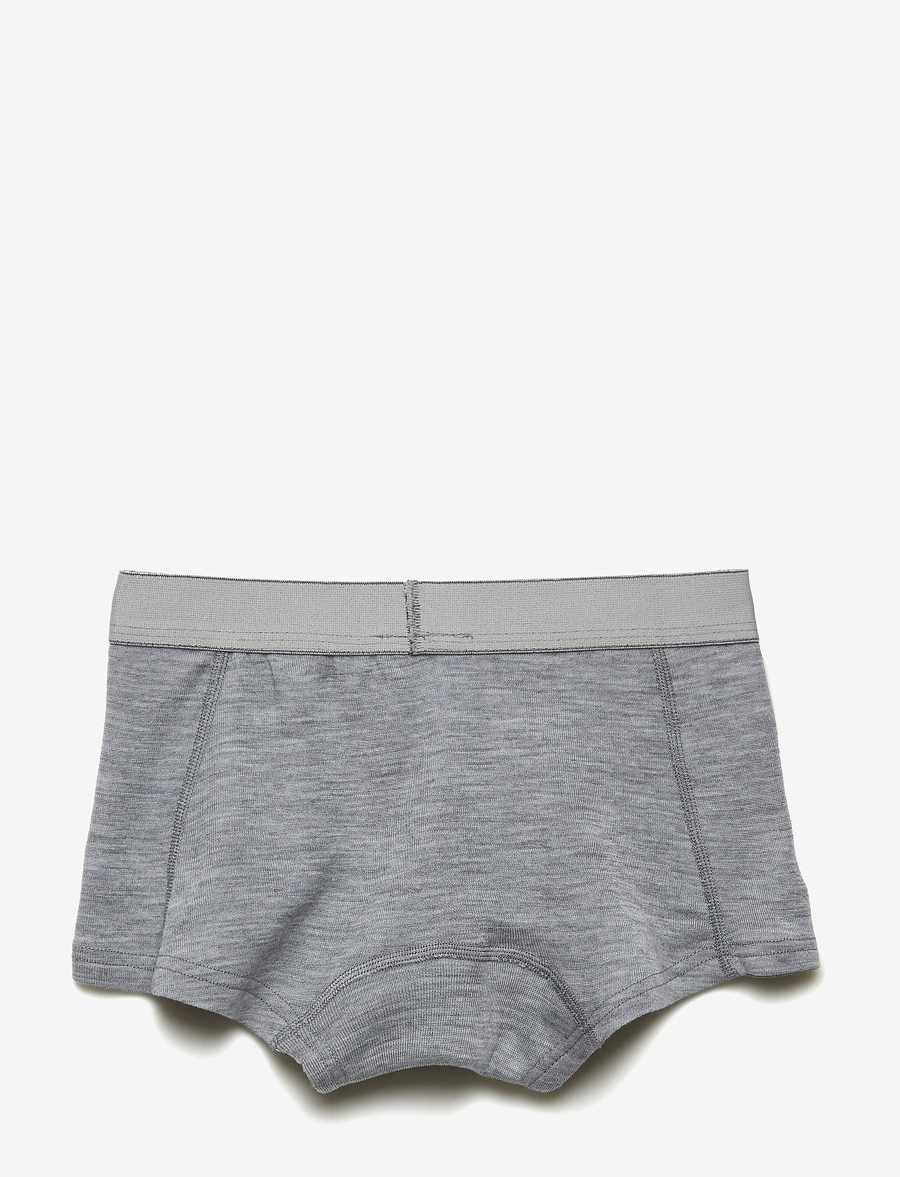 Mikk-Line - Wool Girls Shorts - doły - pearl grey melange - 1