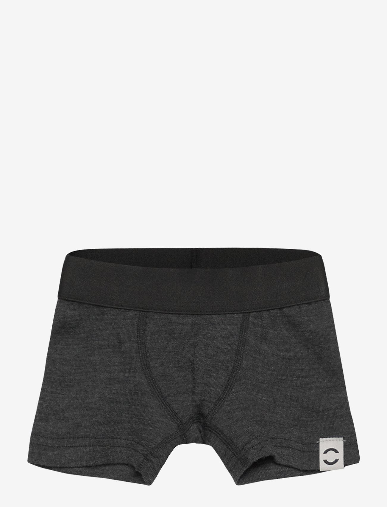 Mikk-Line - Wool Boys Shorts - underdele - anthracite melange - 0