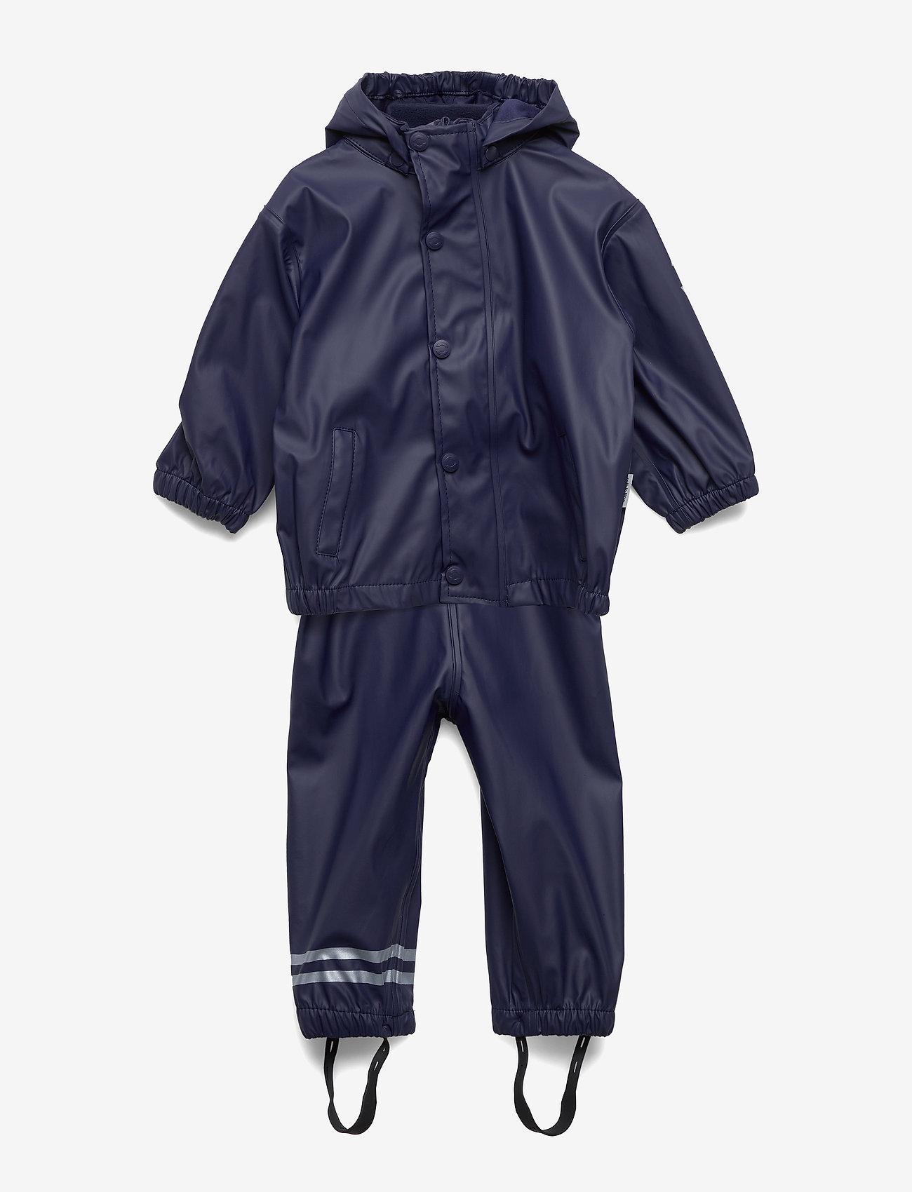 Mikk-Line - PU RAIN Set w. Susp/98 - sets & suits - 286/dark marine