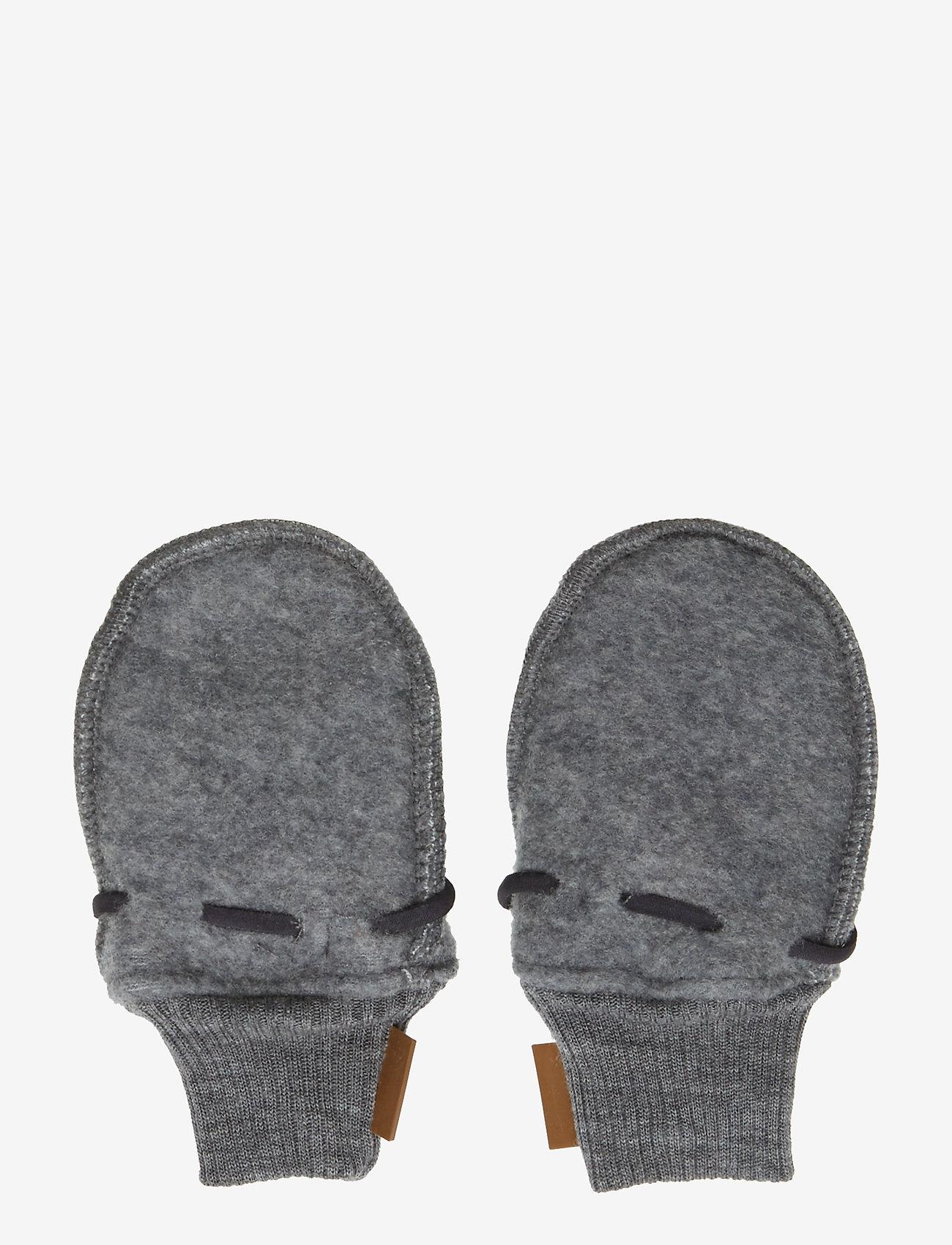 Mikk-Line - Wool mittens - vantar - 916/melangegrey - 1