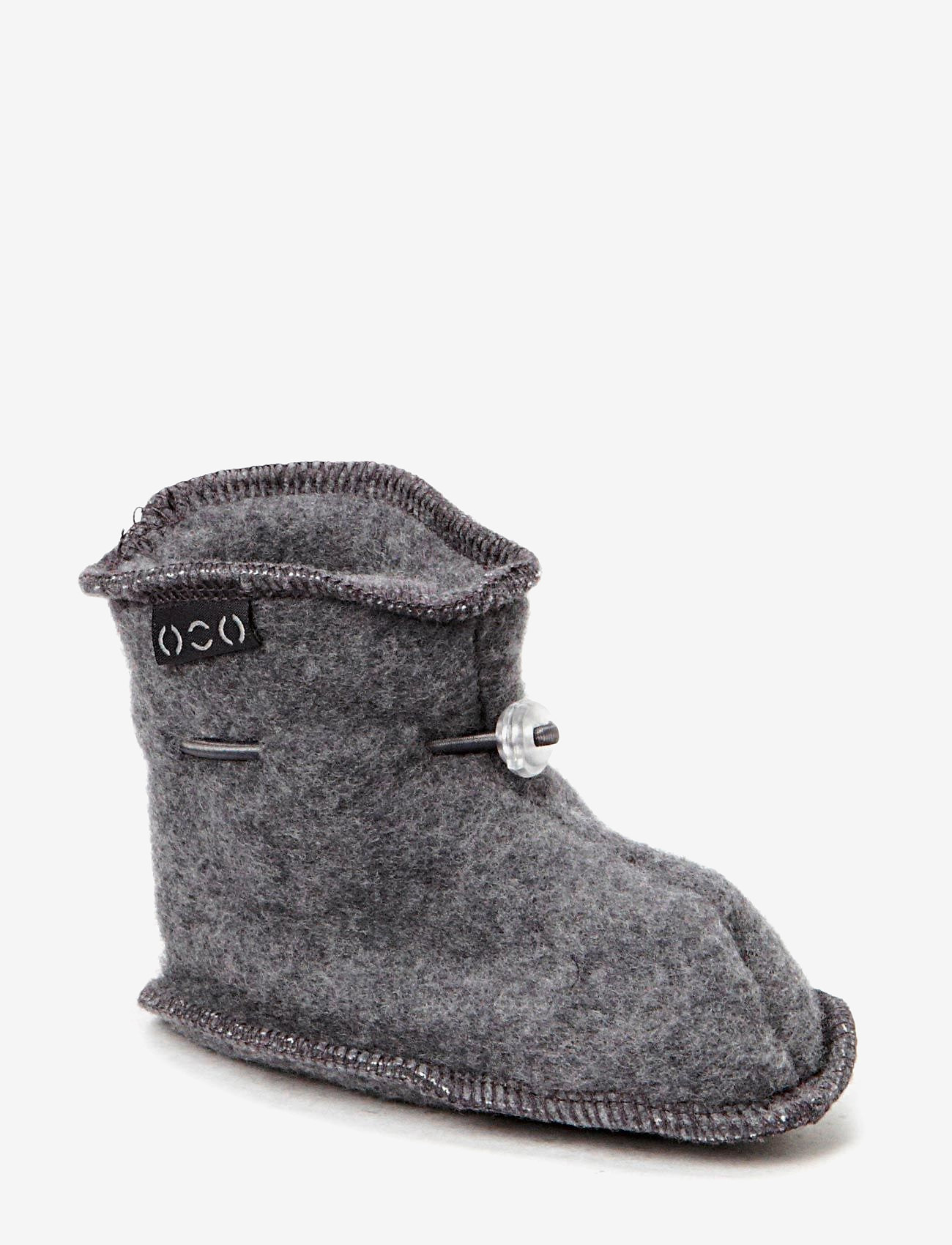 Mikk-Line - Wool baby shoe - hausschuhe - 916/175-189 m melange/grey - 0