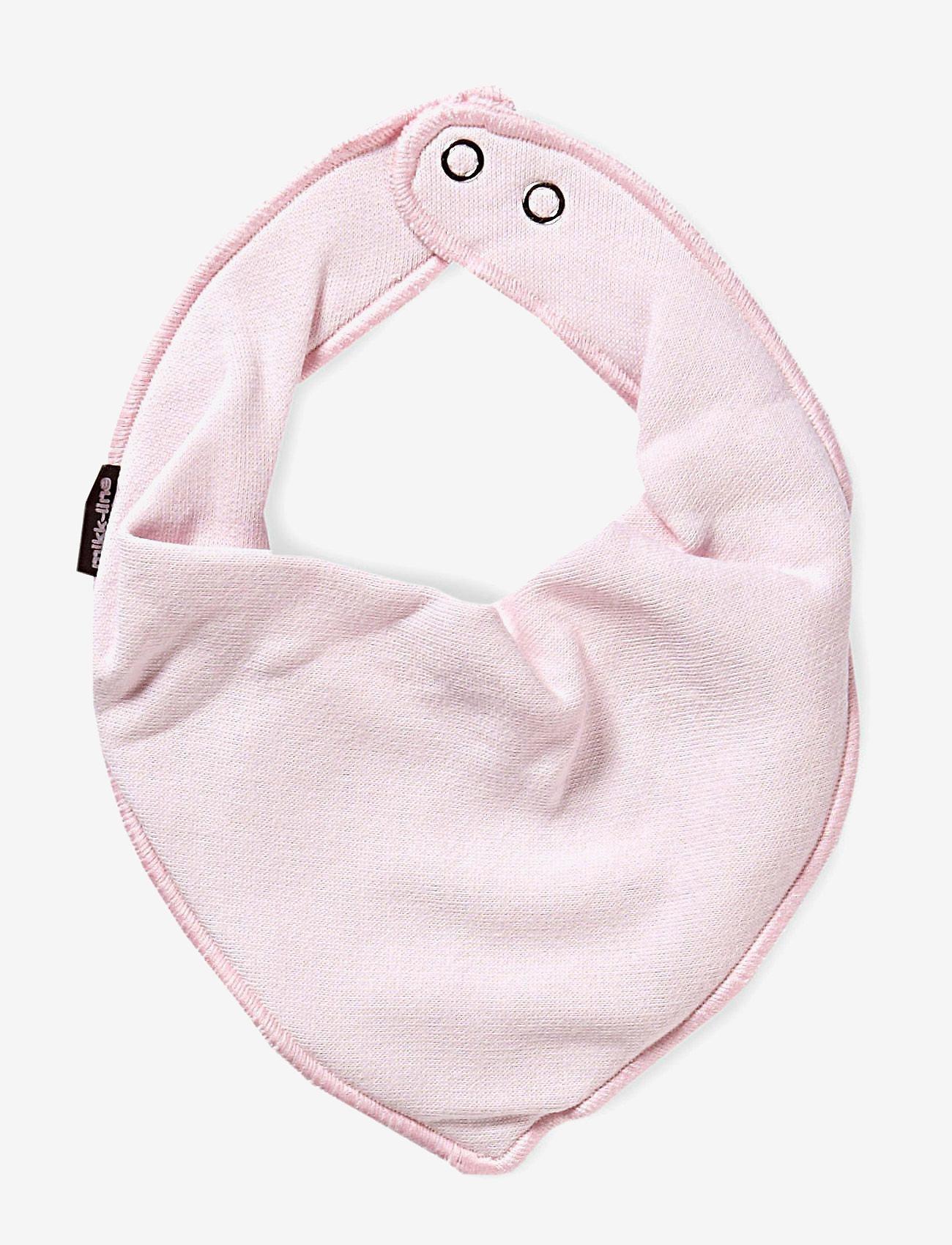 Mikk-Line - Cotton Bibs - Triangle - hagesmæk - 504/baby pink - 0