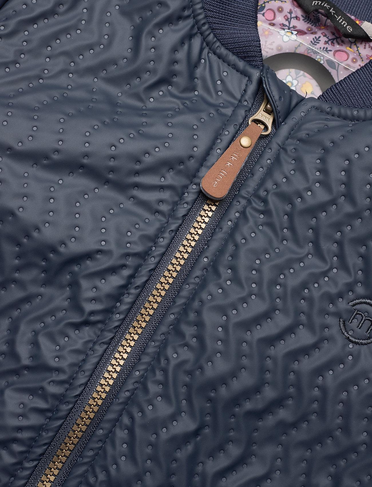 Mikk-line Duvet Girls Coat W. Printed Lining - Jackor Blue Nights