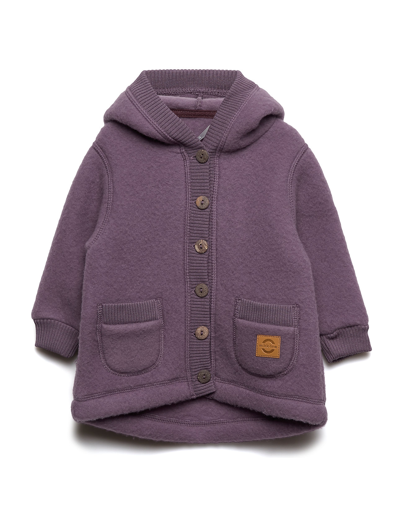 Mikk-Line WOOL Cardigan w/hood+pockets - FLINT