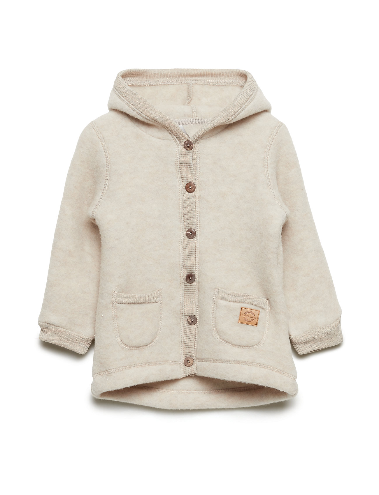 2de0e03f Wool Cardigan W/hood+pockets (Melange Offwhite) (499 kr) - Mikk-Line ...