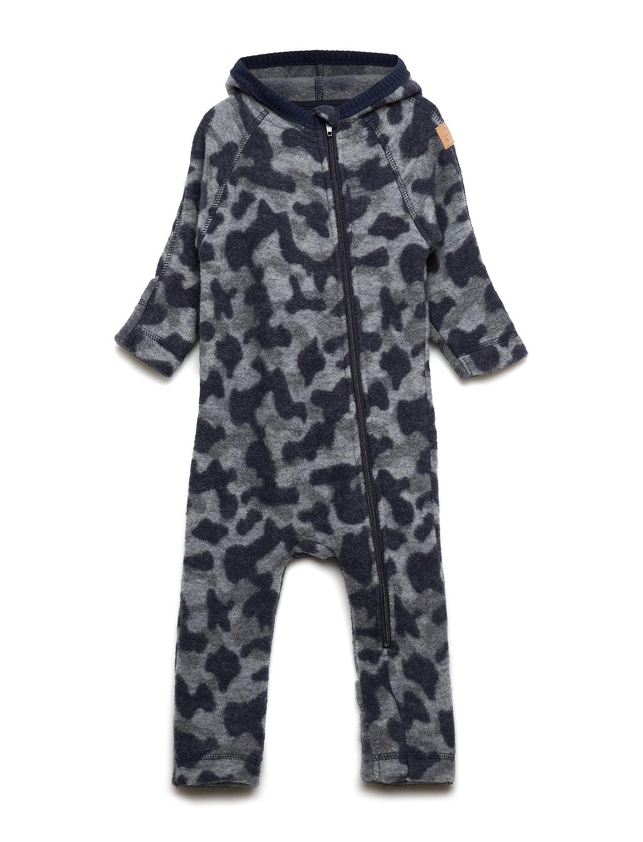 Mikk-Line WOOL Jacquard Baby Suit - BLUE NIGHTS