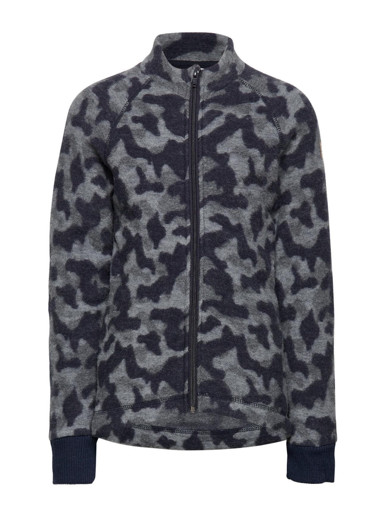 Mikk-Line WOOL Jacquard Jacket - BLUE NIGHTS