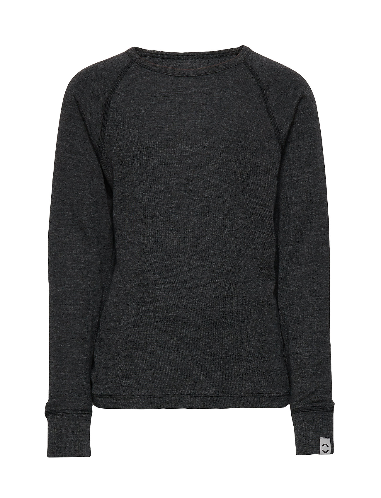 Image of Wool Ls Top Langærmet T-shirt Grå Mikk-Line (3067539505)