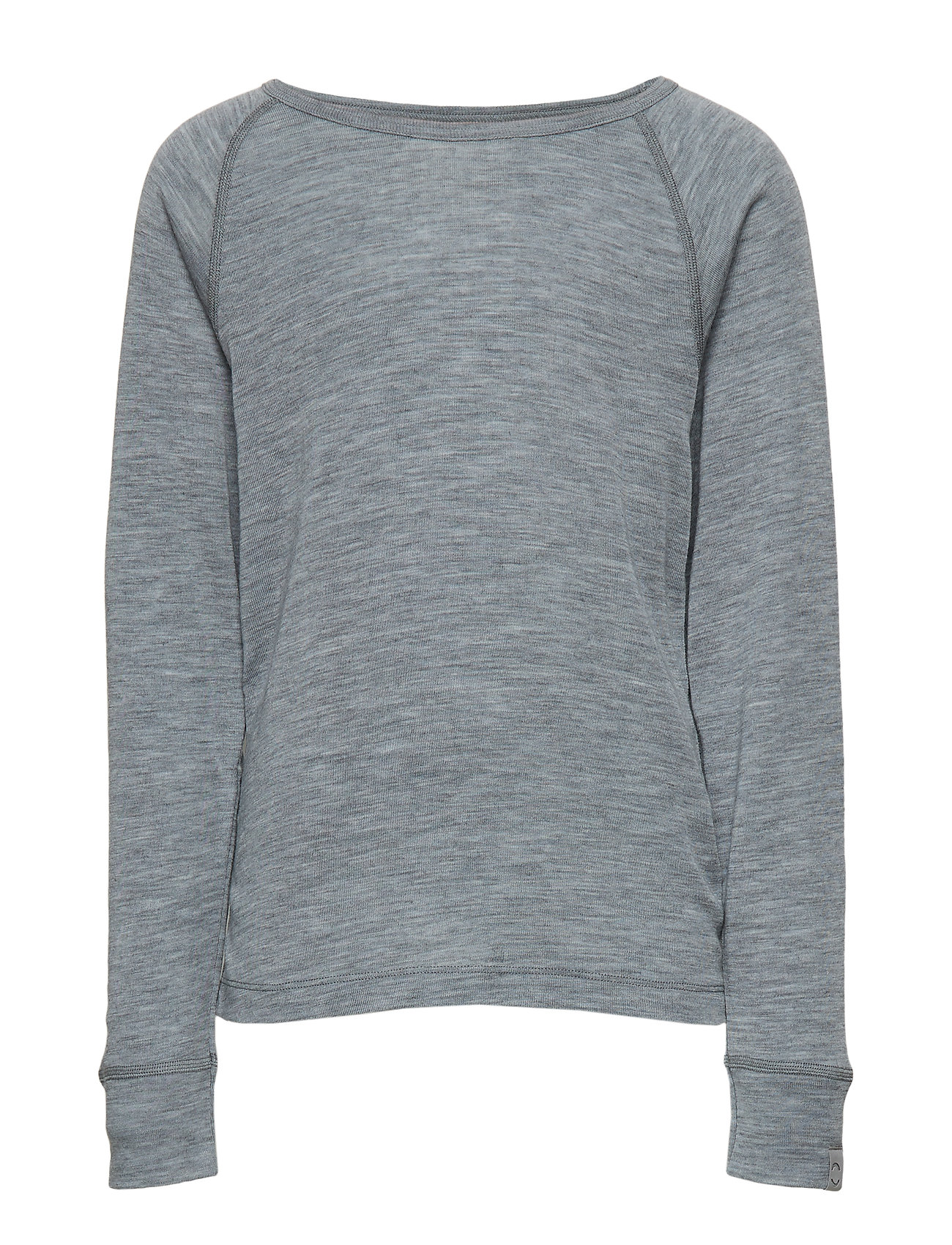 Image of Wool Ls Top Langærmet T-shirt Grå Mikk-Line (3067539501)