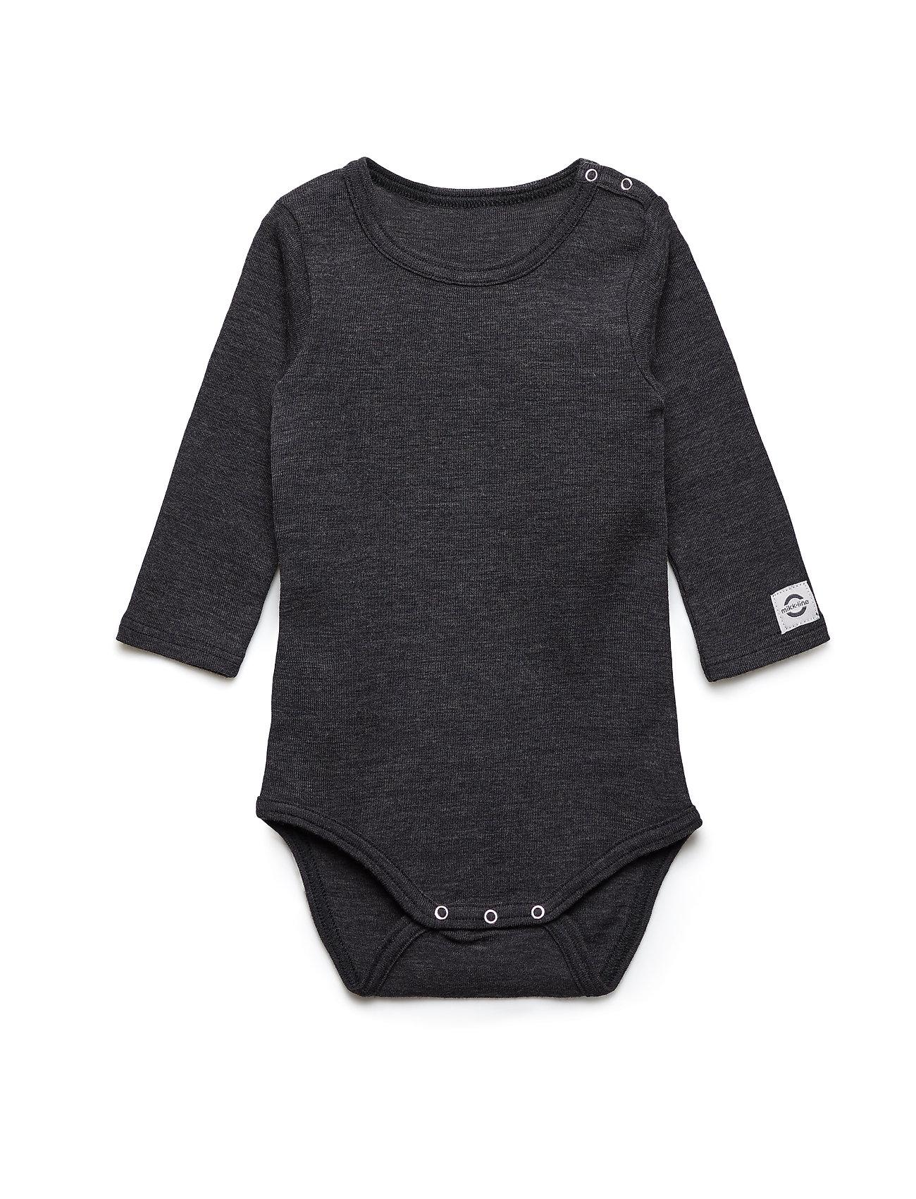 Mikk-Line Wool LS Body - GREY MELANGE
