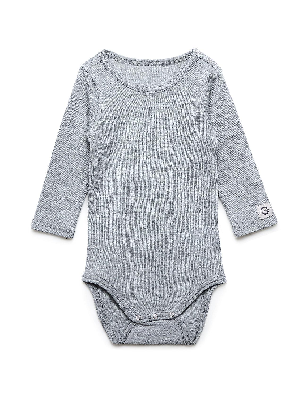 Mikk-Line Wool LS Body - PEARL GREY MELANGE