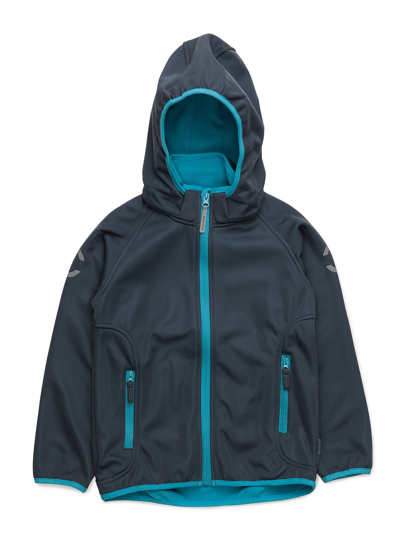 Mikk-Line Softshell boy jacket - CYAN BLUE 232