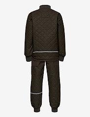 Mikk-Line - Duvet Set - No Fleece - termotøj - black olive - 1