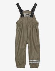 Mikk-Line - PU Rain Set w. Susp/110 - sets & suits - dusty olive - 2