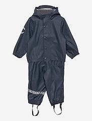 Mikk-Line - PU Rain Set Recycled W SUSP - sets & suits - blue nights - 0