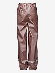 Mikk-Line - PU Metalic Rain Set Rec. w. Susp/110 - sets & suits - adobe rose - 3
