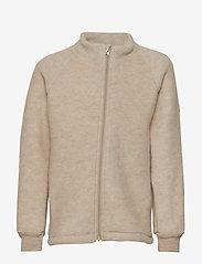 Mikk-Line - WOOL jacket - uldtøj - 429/melangeoffwhite - 0