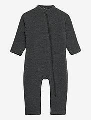 Mikk-Line - Wool Baby Suit - termo sæt - anthracite melange - 0