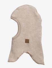 Mikk-Line - Wool Fullface - balaclava - 429/melangeoffwhite - 1